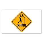 Basketball X-ing Rectangle Sticker 10 pk)