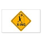 Basketball X-ing Rectangle Sticker 10 pk)