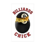 Billiards Chick 2 Rectangle Sticker 10 pk)
