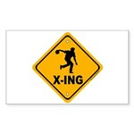 Bowl X-ing Rectangle Sticker 50 pk)
