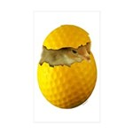 Golf Chick Rectangle Sticker 50 pk)