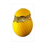 Golf Chick Rectangle Sticker 10 pk)
