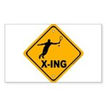Tennis X-ing Rectangle Sticker 10 pk)