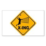 Volleyball X-ing Rectangle Sticker 10 pk)