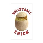Volleyball Chick 2 Rectangle Sticker 50 pk)