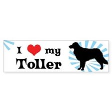 I Love My Toller Bumper Bumper Sticker
