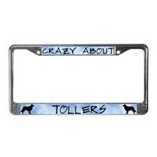 Crazy About Tollers License Plate Frame