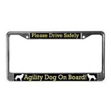 Toller Agility Dog License Plate Frame