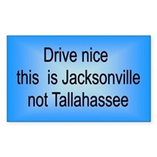 Jacksonville n TA Rectangle Decal