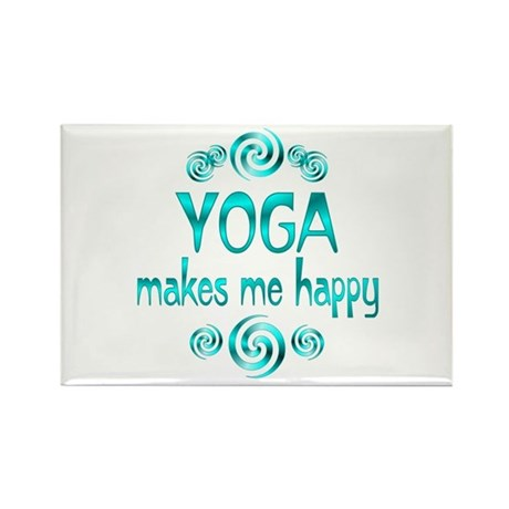 Yoga Happiness Rectangle Magnet (100 pack)