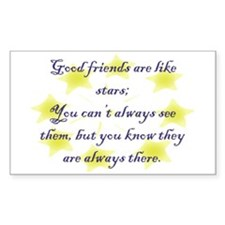 Friends are like Stars Rectangle Decal