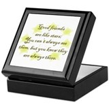 Friends are like Stars Keepsake Box