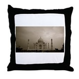 A Storm Threatens the Taj Mah Throw Pillow