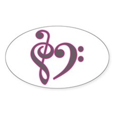 Music Heart Oval Decal