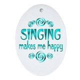 Singing Oval Ornament