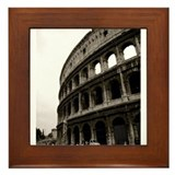 The Colosseum in Roma Framed Tile