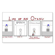 Life of an Otaku Rectangle Sticker 10 pk)