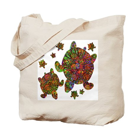 Sea Turtle Family Tote Bag