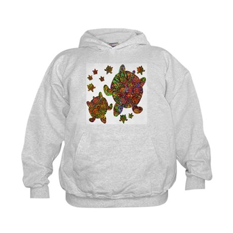 Sea Turtle Family Kids Hoodie
