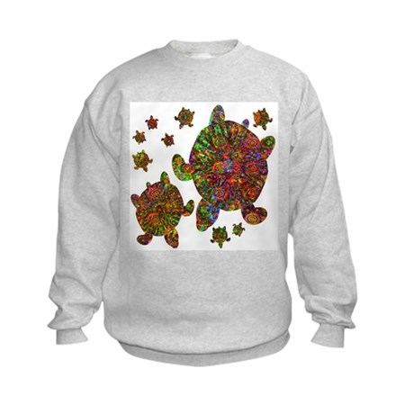 Sea Turtle Family Kids Sweatshirt
