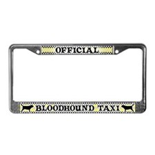 Official Bloodhound Taxi License Plate Frame