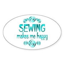 Sewing Oval Decal