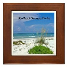 Lido Beach, Sarasota, Florida Framed Tile