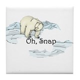 Polar Bear Tile Coaster