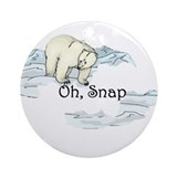 Polar Bear Ornament (Round)