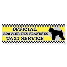 Official Bouvier des Flandres Taxi Bumper Bumper Sticker