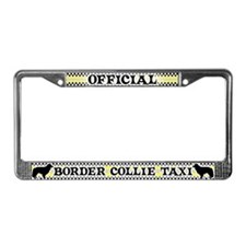 Official Border Collie Taxi License Plate Frame