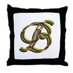 Phyllis Initial B Throw Pillow