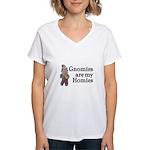 Gnomies are my Homies Women's V-Neck T-Shirt