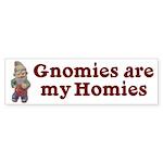 Gnomies are my Homies Bumper Sticker (50 pk)