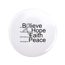 "Cute Personalize brain cancer 3.5"" Button"