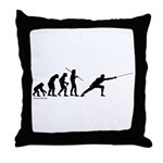 Fencing Evolution Throw Pillow