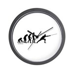 Fencing Evolution Wall Clock