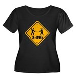 Fencer X-ing Women's Plus Size Scoop Neck Dark T-S