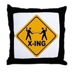 Fencer X-ing Throw Pillow