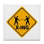 Fencer X-ing Tile Coaster