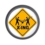 Fencer X-ing Wall Clock