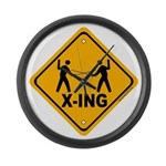 Fencer X-ing Large Wall Clock