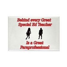 Cute Special education teacher aides Rectangle Magnet (100 pack)