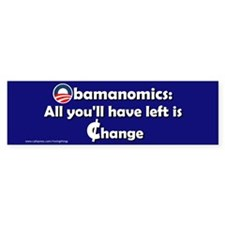 Obamanomics-Change Bumper Bumper Sticker