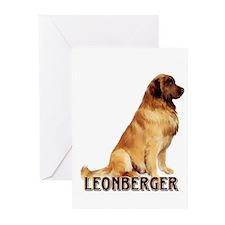 leonberger portrait Greeting Cards (Pk of 10)