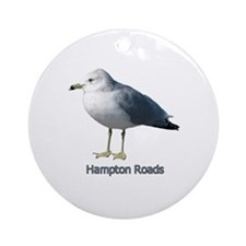 Hampton Roads Gull Ornament (Round)