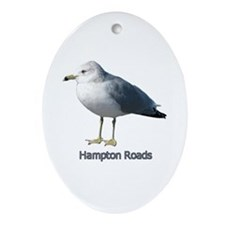 Hampton Roads Gull Oval Ornament
