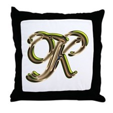 Phyllis Initial K Throw Pillow