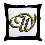Phyllis Initial W Throw Pillow