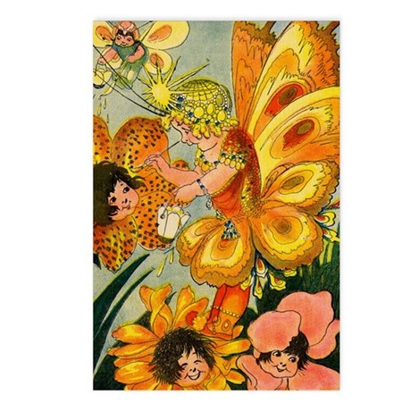 Flower Folk Postcards (Package of 8)